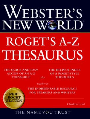 Webster's New World Rogets A-Z Thesaurus 9780028631226