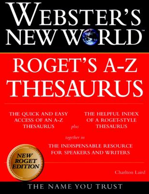 Websters New World Roget's A-Z Thesaurus