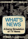 What's News: A Game Simulation of TV News