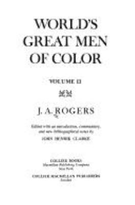 World's Great Men of Color 9780020813101