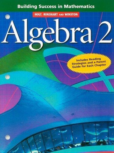 Algebra 2 Building Success in Mathematics
