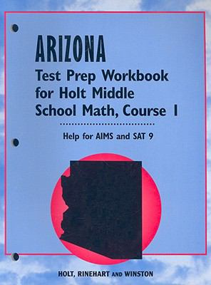 Arizona Test Prep Workbook for Holt Middle School Math, Course 1