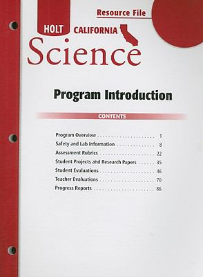 California Holt Science Resource File Program Introduction