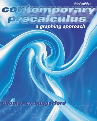 Contemporary Precalculus: A Graphing Approach [With CDROM]