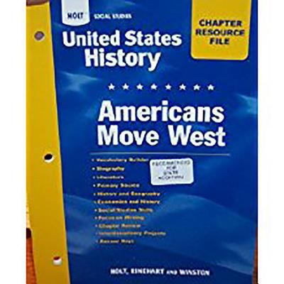 Crf Am Move West Hss: Us Hist 2006