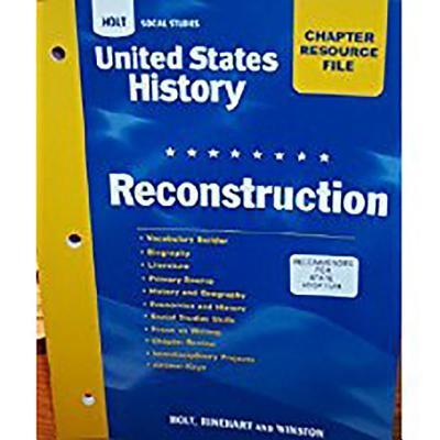 Crf Reconstruction Hss: Us Hist 2006