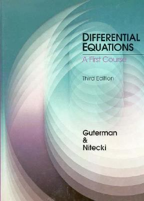 Differential Equations: A First Course