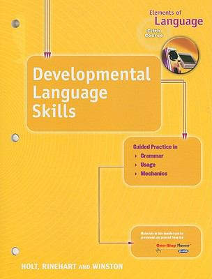 Elements of Language Developmental Language Skills, Fifth Course 9780030700644