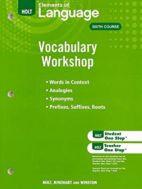 Elements of Language Vocabulary Workshop, Sixth Course
