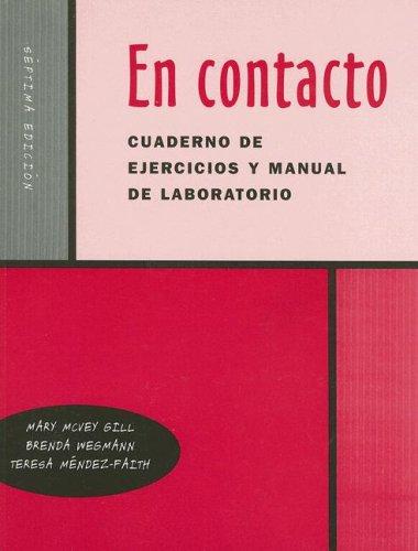 En Contacto Cuaderno de Ejercicios y Manual de Laboratorio 9780030345418