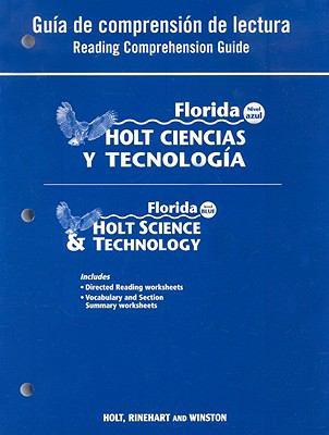 Florida Holt Ciencias y Tecnologia Guia de Comprension de Lectura/Florida Holt Science & Technology Reading Comprehension Guide: Nivel Azul/Level Blue
