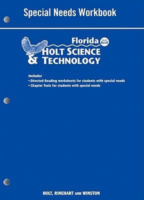 Florida Holt Science & Technology: Special Needs Workbook