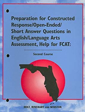 Florida Preparation for Constructed Response/Open-Ended/Short Answer Questions in English/Language Arts Assessment, Second Course