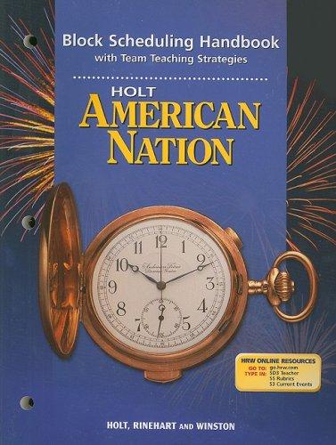 Holt American Nation Block Scheduling Handbook with Team Teaching Strategies