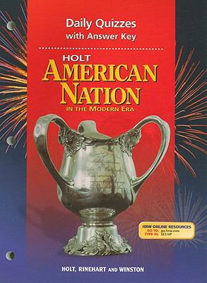 Holt American Nation Daily Quizzes with Answer Key