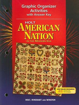 Holt American Nation in the Modern Era Graphic Organizer Activities with Answer Key