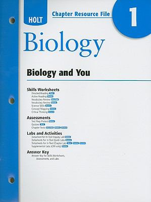 Holt Biology Chapter 1 Resource File: Biology and You