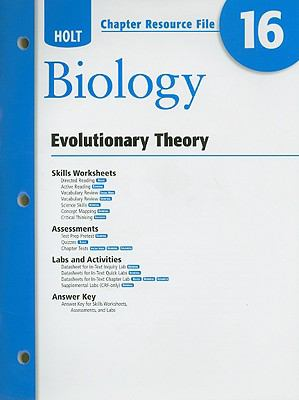 Holt Biology Chapter 16 Resource File: Evolutionary Theory