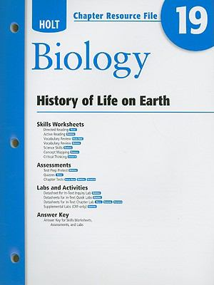 Holt Biology Chapter 19 Resource File: History of Life on Earth