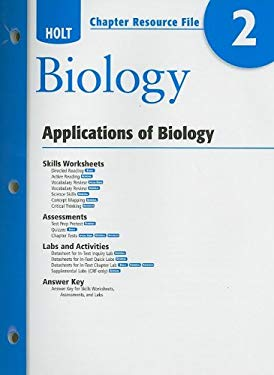 Holt Biology Chapter 2 Resource File: Applications of Biology