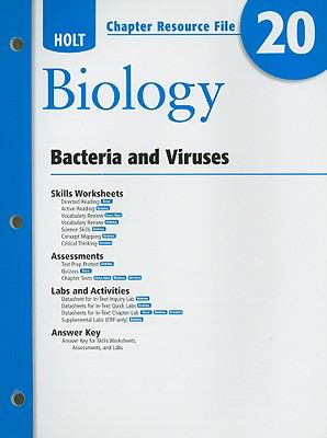Holt Biology Chapter 20 Resource File: Bacteria and Viruses