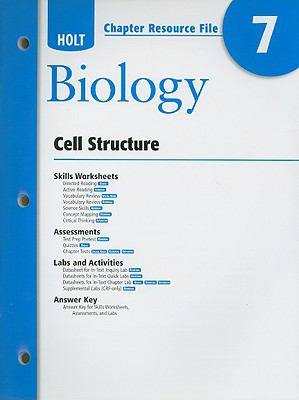 Holt Biology Chapter 7 Resource File: Cell Structure