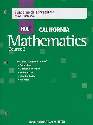 Holt California Mathematicas Curso 2 Cuaderno de Aprendizaje