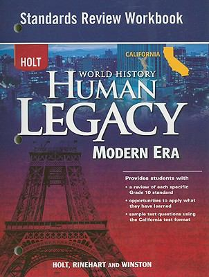 Holt California World History Human Legacy Modern Era Standards Review Workbook