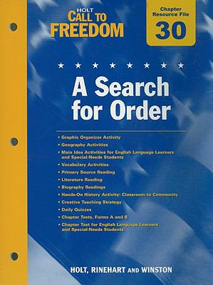Holt Call to Freedom Chapter 30 Resource File: A Search for Order