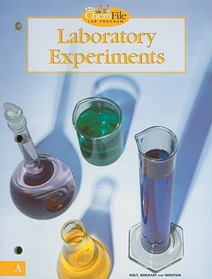 Holt ChemFile Lab Program Laboratory Experiments, Level A