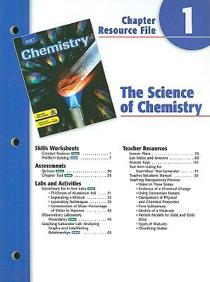 Holt Chemistry Chapter 1 Resource File: The Science of Chemistry
