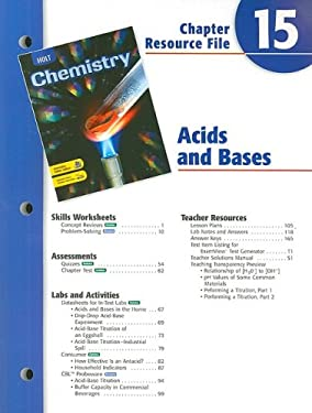 Holt Chemistry Chapter 15 Resource File: Acids and Bases