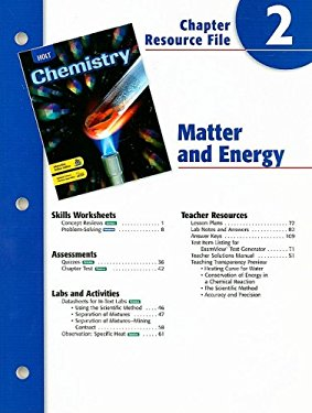Holt Chemistry Chapter 2 Resource File: Matter and Energy