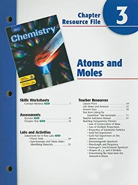 Holt Chemistry Chapter 3 Resource File: Atoms and Moles
