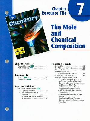Holt Chemistry Chapter 7 Resource File