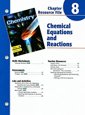 Holt Chemistry Chapter 8 Resource File: Chemical Equations and Reactions