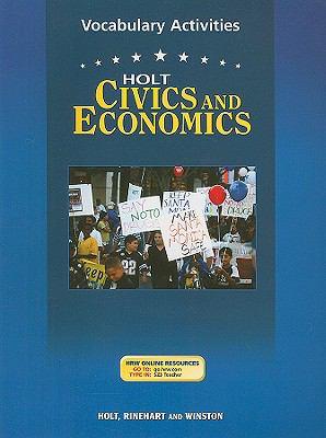 Holt Civics and Economics Vocabulary Activities