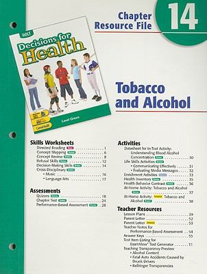 Holt Decisions for Health Chapter 14 Resource File: Tobacco and Alcohol