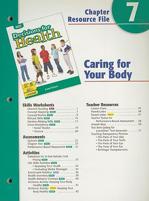 Holt Decisions for Health Chapter 7 Resource File: Caring for Your Body