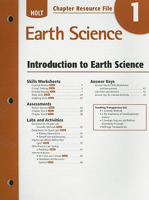 Holt Earth Science Chapter 1 Resource File: Introduction to Earth Science