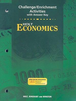 Holt Economics Challenge/Enrichment Activities