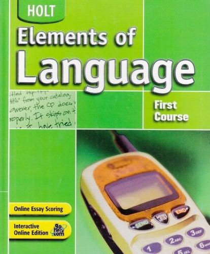 Holt Elements of Language, 1st Course