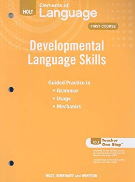 Holt Elements of Language Developmental First Course: Developmental Language Skills