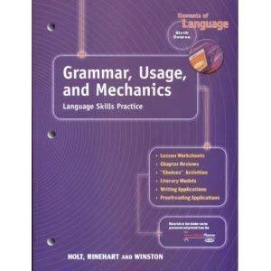 Holt Elements of Language: Gum Language Skills Grade 12