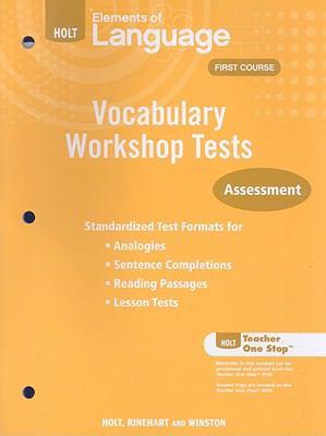 Holt Elements of Language Vocabulary Workshop Tests: Assessment