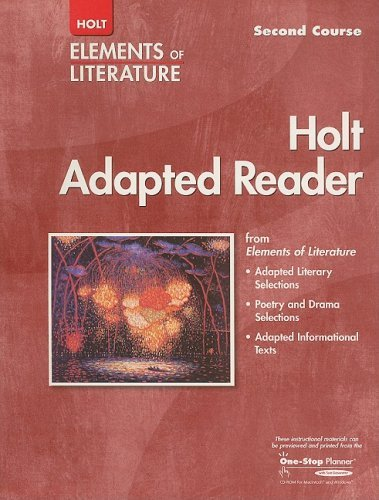 Holt Elements of Literature Adapted Reader, Second Course