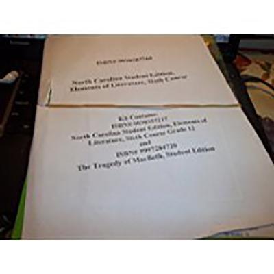 Holt Elements of Literature North Carolina: Student Edition (Kit with Macbeth) Grade 12 2005