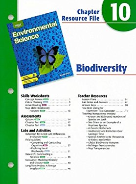 Holt Environmental Science Chapter 10 Resource File: Biodiversity