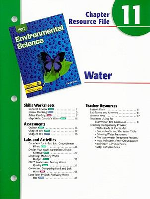 Holt Environmental Science Chapter 11 Resource File: Water