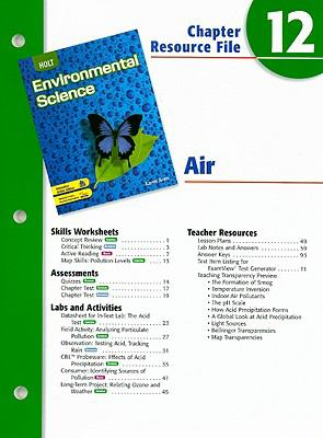 Holt Environmental Science Chapter 12 Resource File: Air